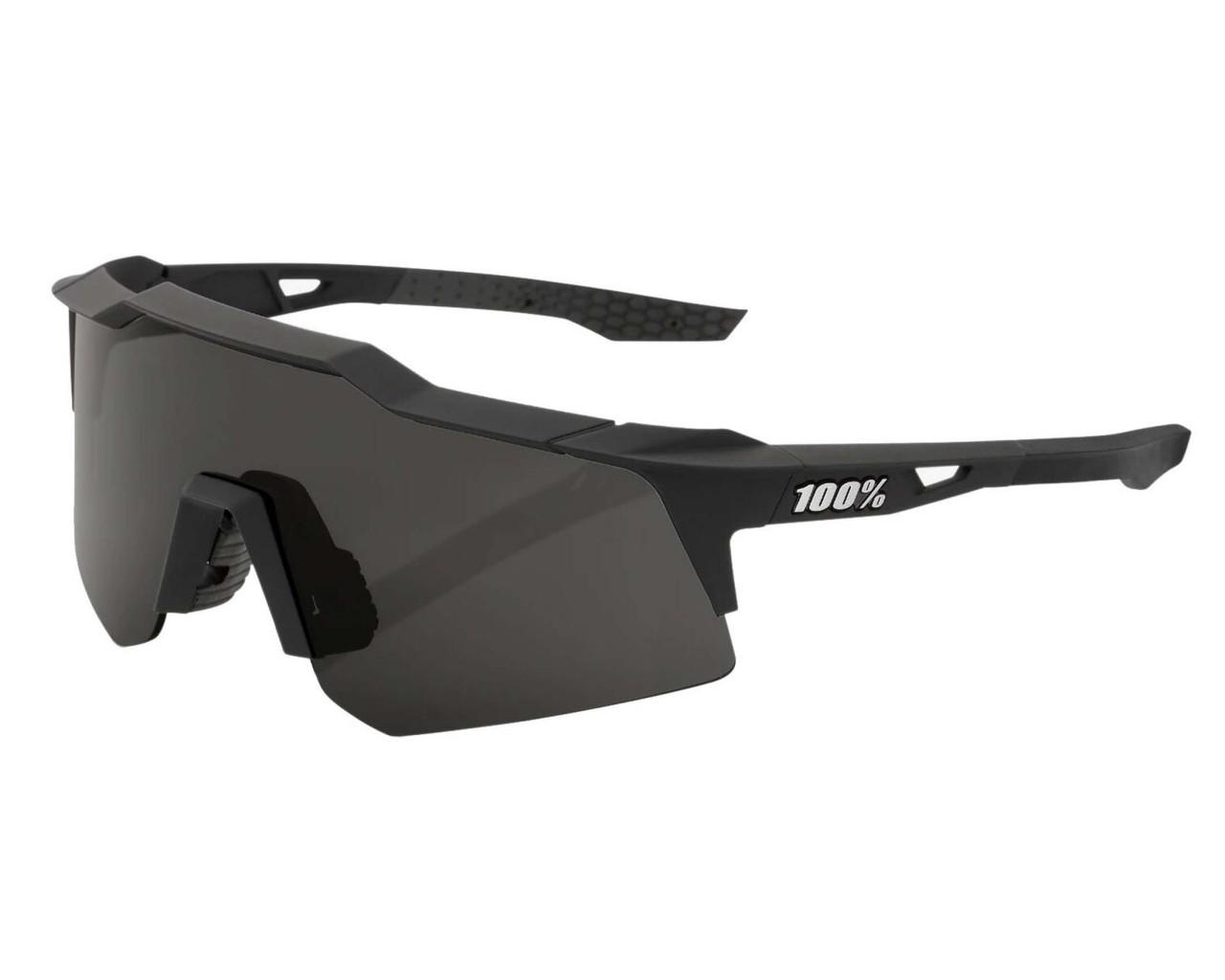100% Speedcraft XS - Smoke Lens sports sunglasses   soft tact black