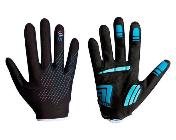 Cube WLS Gloves Natural Fit Sun long finger   black/baby blue