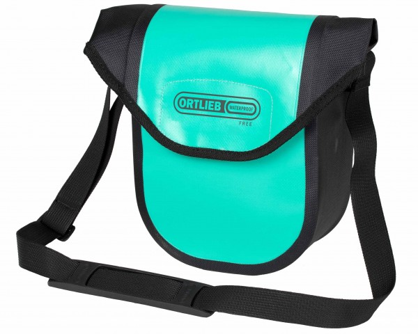 Ortlieb Ultimate Six Compact Free 2.7 litres waterproof Bicycle handlebar bag without Mounting Set PVC free | lagoon-black