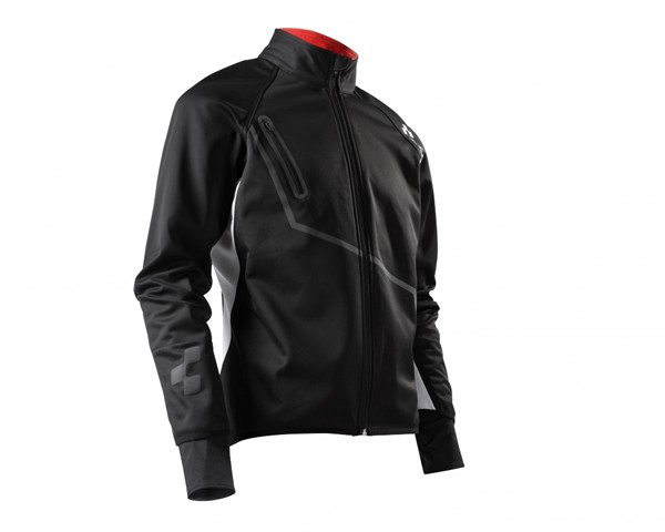 Cube Blackline Softshell Jacket | black/white/red