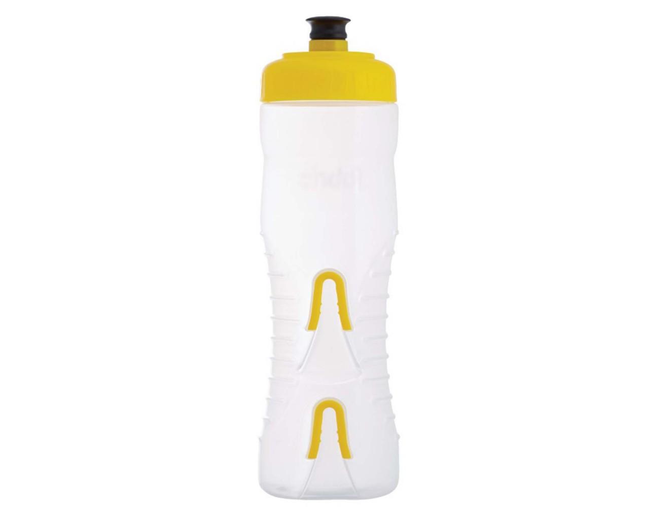 Fabric Wasserflasche mit integriertem Halter 750 ml   clear-yellow