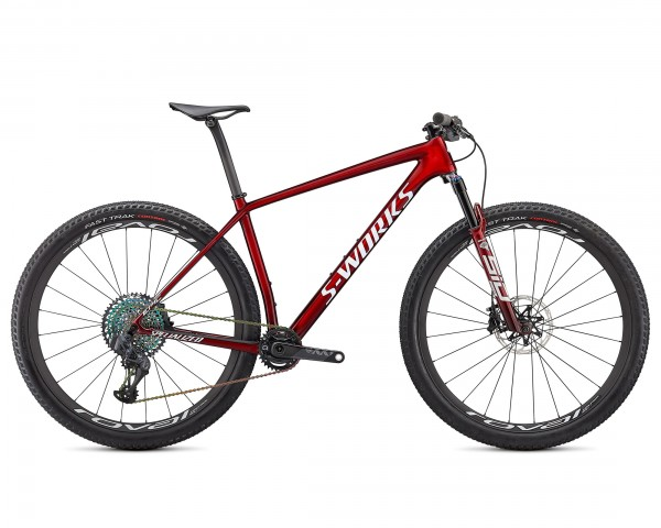 Specialized S-Works Epic HT 29 - Carbon MTB Hardtail 2021 | gloss red tint fade over brushed silver-