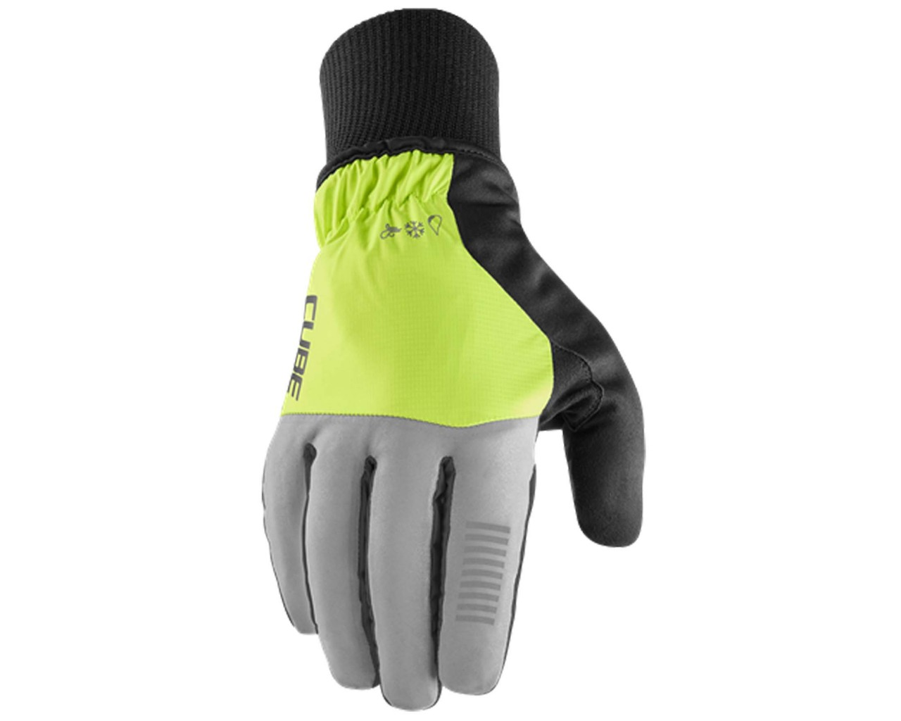 Cube Gloves Winter X NF long finger | grey n yellow