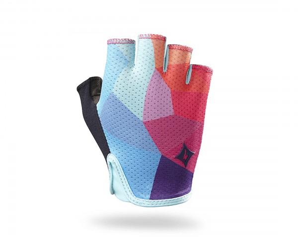 Specialized Grail Damen Kurz-Finger Handschuhe | turquoise geo fade