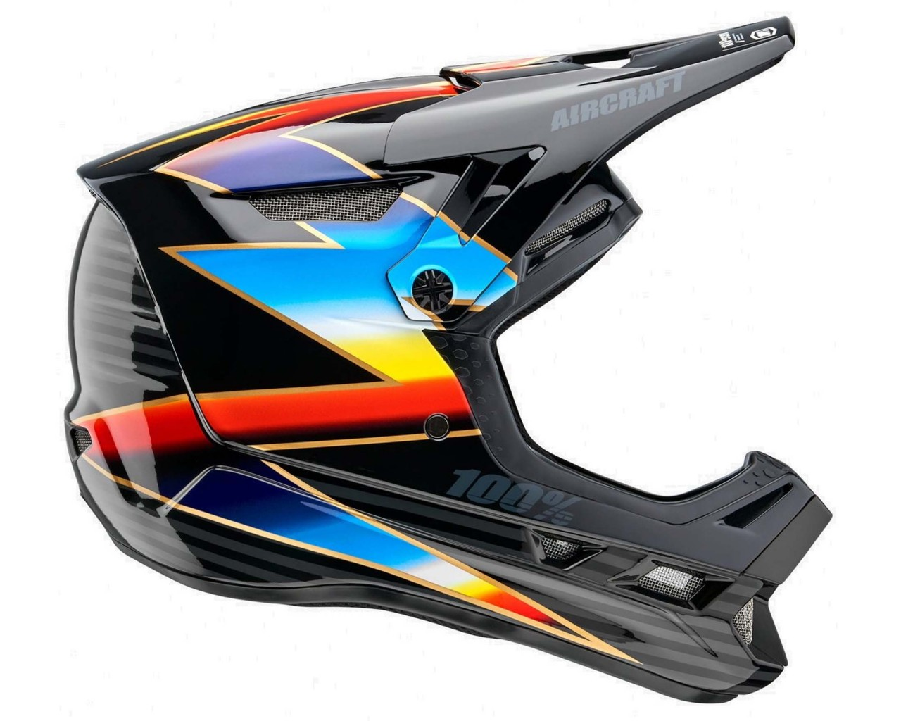100% Aircraft DH Composite Helm | knox-black