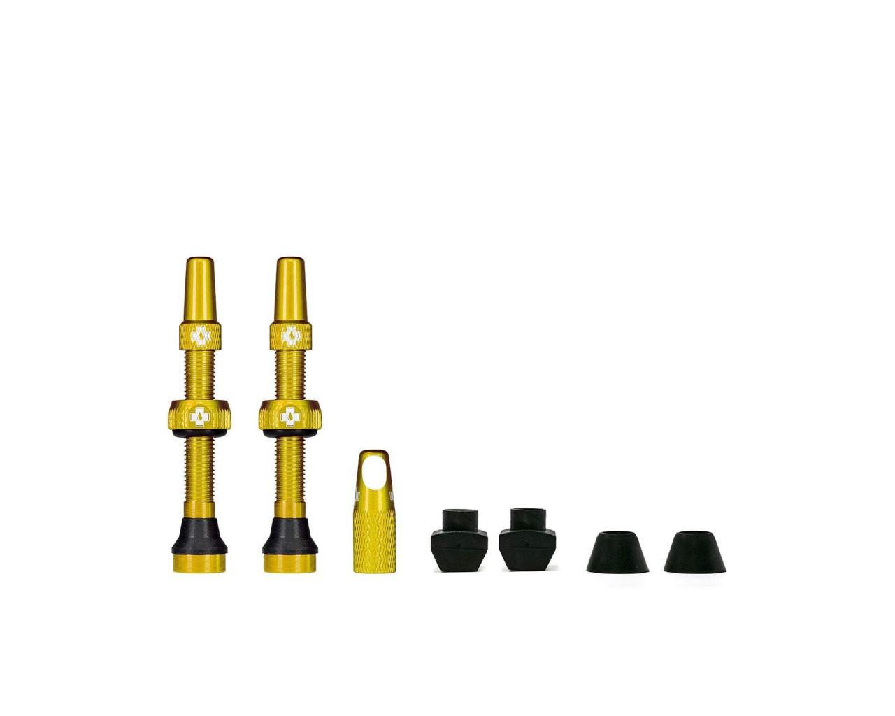 Muc-Off Tubeless Valve Kit Universal for MTB & Road | gold