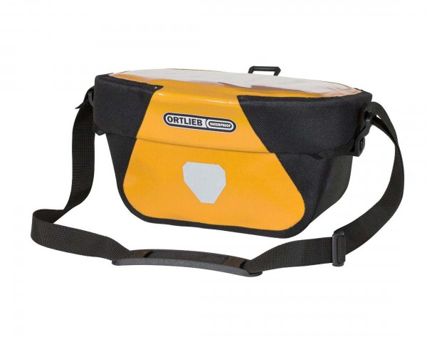 Ortlieb Ultimate Six Classic 5 liter waterproof Bicycle-Handlebar Bag without Mounting Set | sun yellow-black
