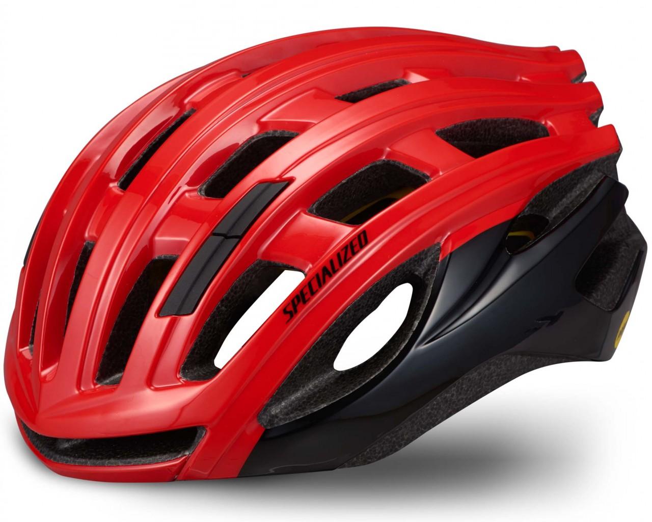Specialized Propero III Rennrad Helm ANGi ready MIPS | flo red-tarmac black