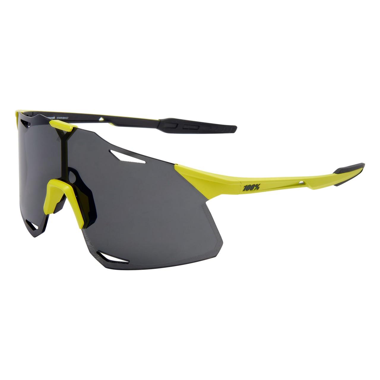 100% Hypercraft Smoke Lens Sunglasses | matte Banana