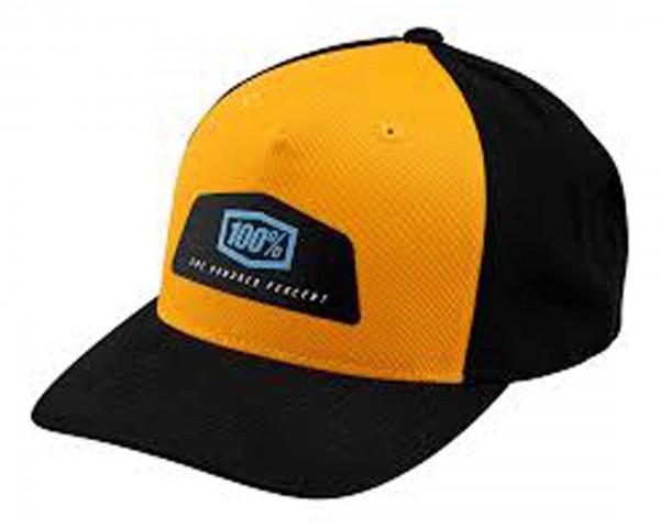 100% Guild X-Fit Snapback Hat | black