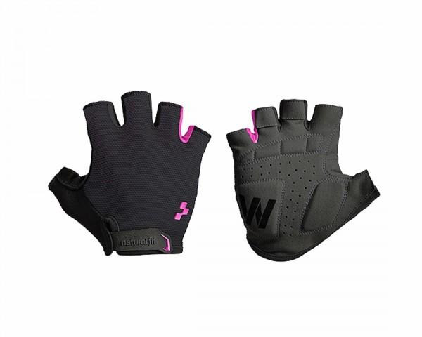 Cube Natural Fit WLS Handschuhe Kurzfinger | black n pink