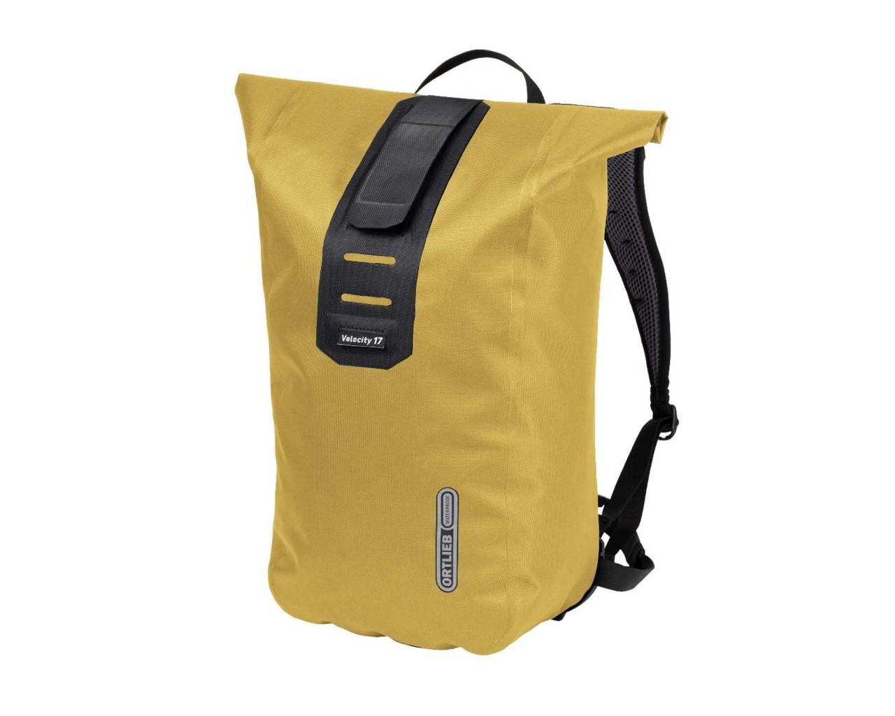 Ortlieb Velocity PS 17 litres waterproof Bike Backpack | mustard