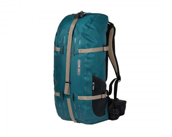 Ortlieb Atrack 25 litres waterproof backpack PVC free | petrol
