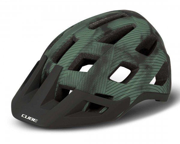 Cube BADGER MTB Helm | grün