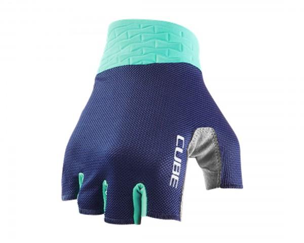 Cube Gloves Performance short finger | blue n mint
