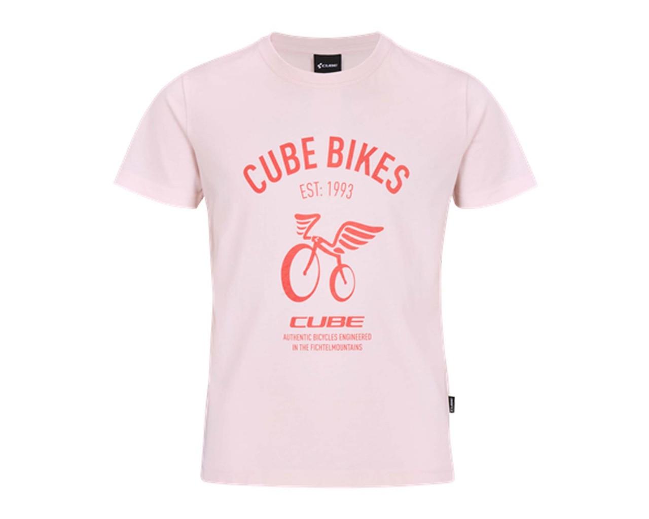 Cube Junior Organic T-Shirt Wings | rose