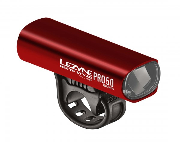 Lezyne Hecto StVZO Pro 50 Lux Frontlight | red-shiny