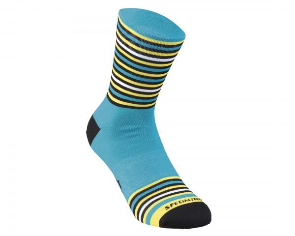 Specialized Full Stripe Socks | nice blue-black-yellow