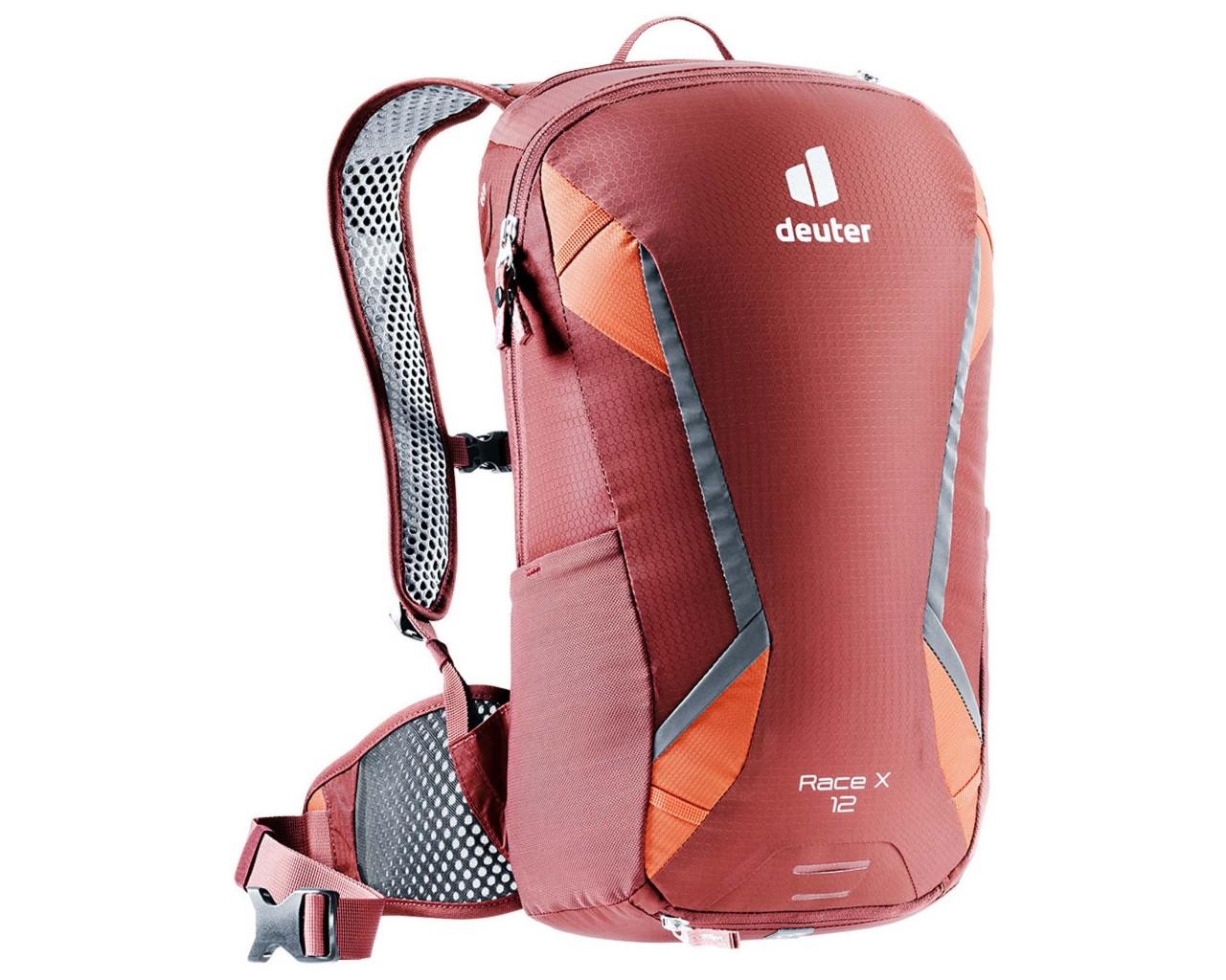 Deuter Race X 12 litres Bike backpack PFC-free   redwood-paprika