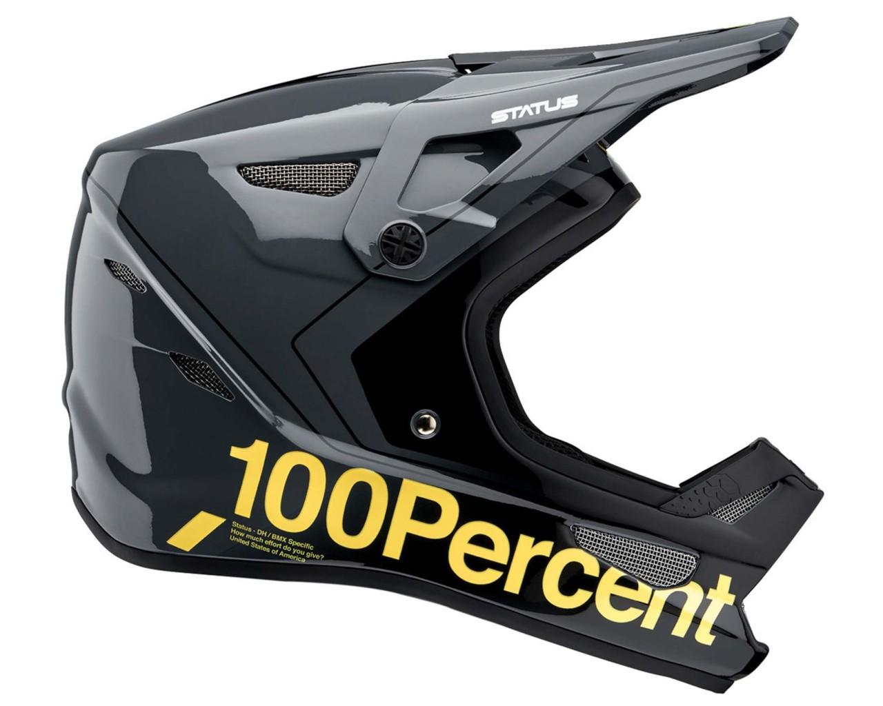 100% Status DH/BMX Helmet | carby charcoal