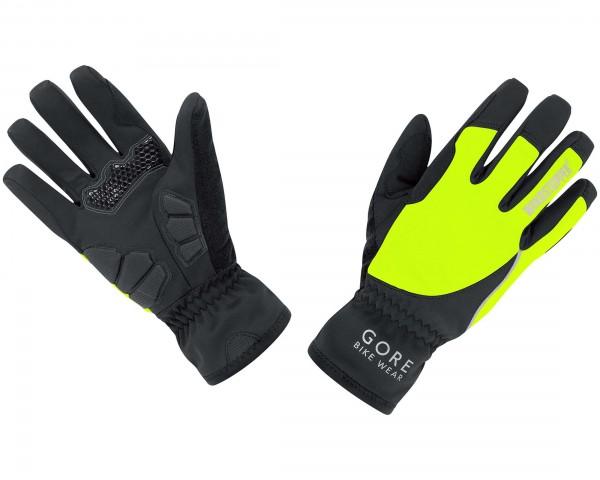 Gore Bike Wear POWER WINDSTOPPER Soft Shell LADY Gloves Road ambitioniert | black-neon yellow