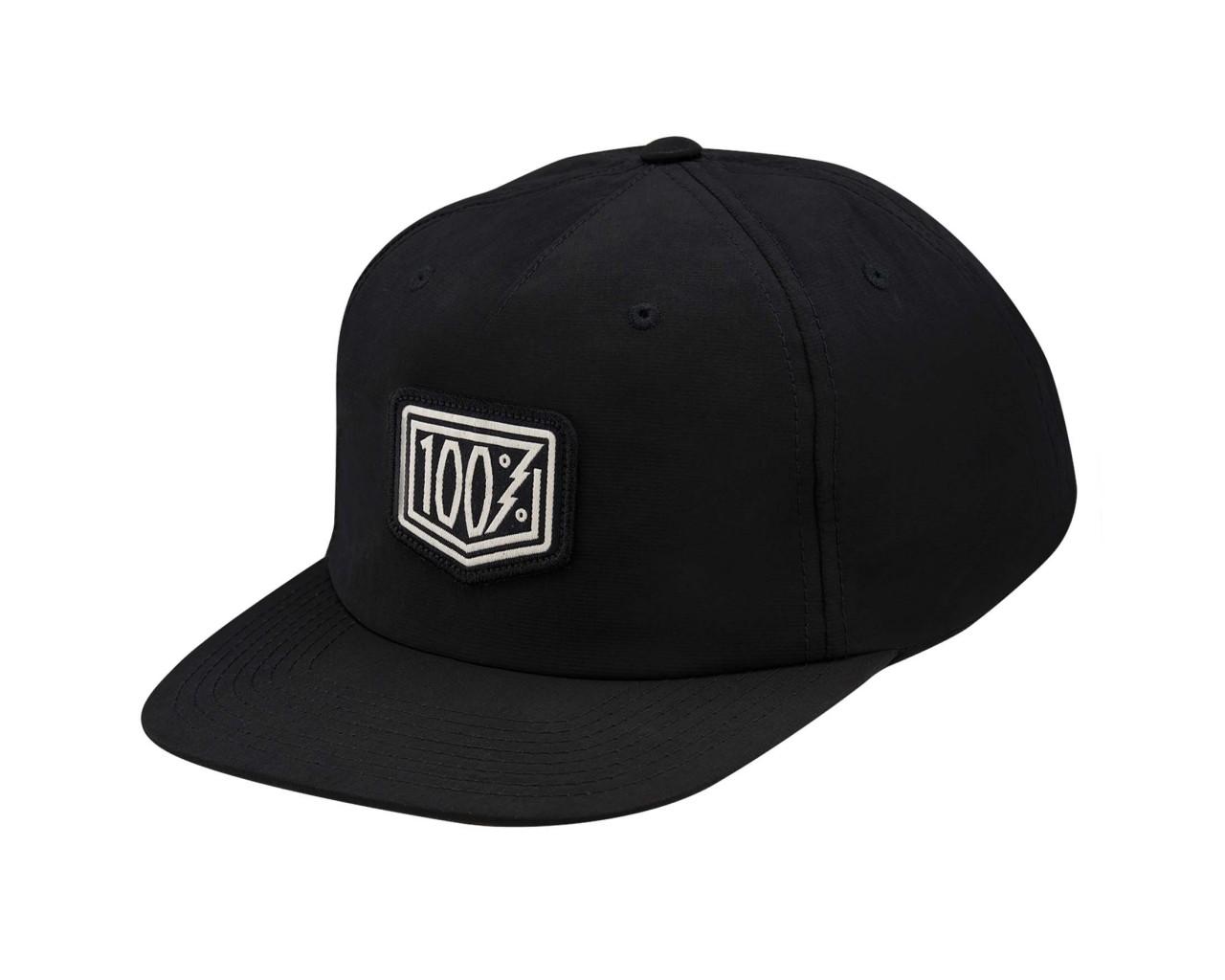 100% Pioneer Snapback Hat | black