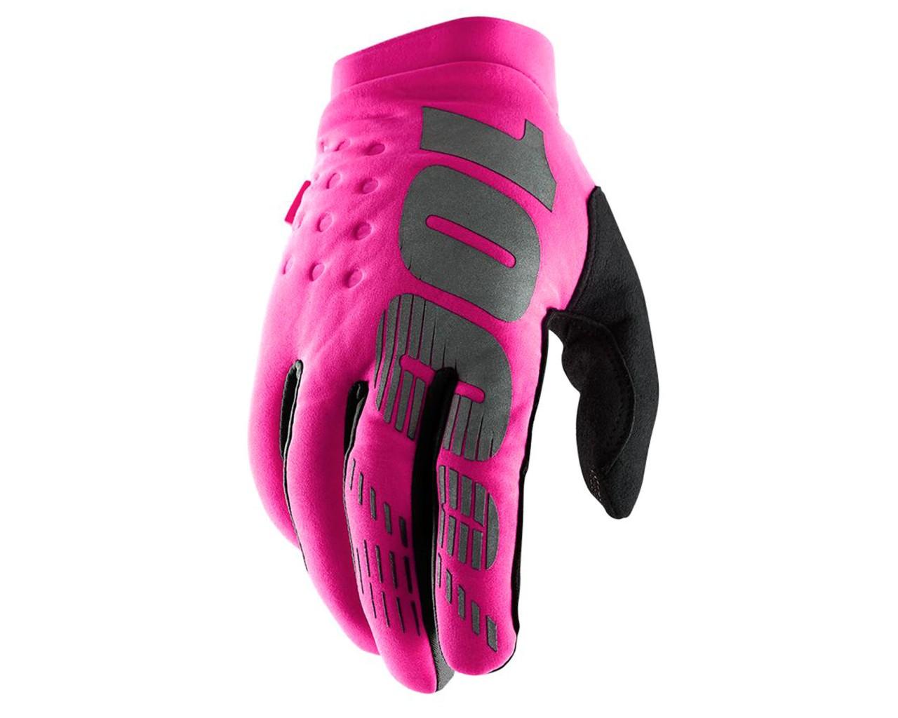 100% Brisker Cold Weather Women Gloves | pink-black