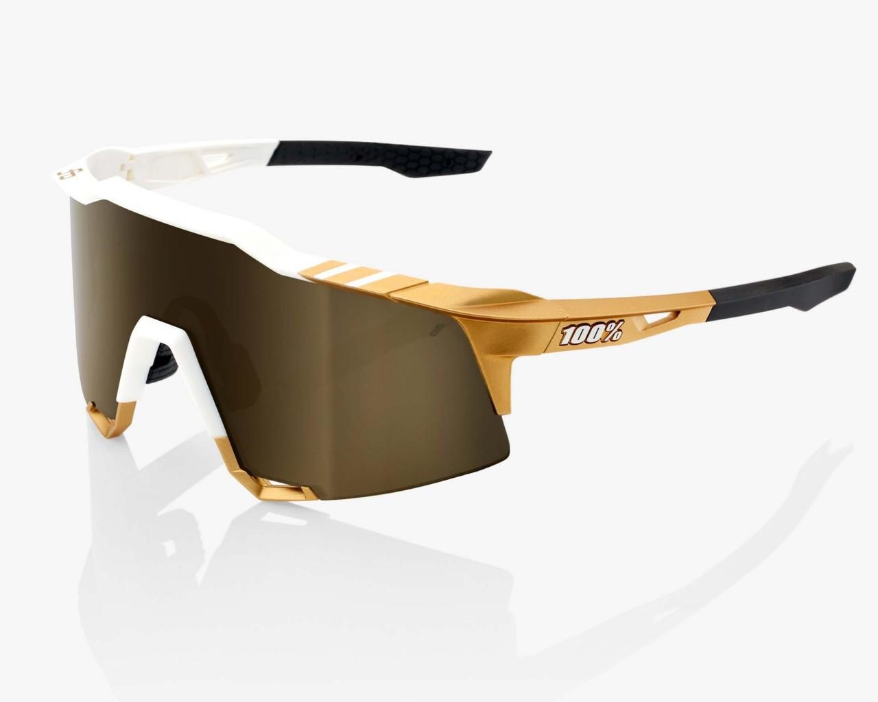 100% Speedcraft -Tall - Mirror Rennrad Brille Peter Sagan LTD Edition   white-gold