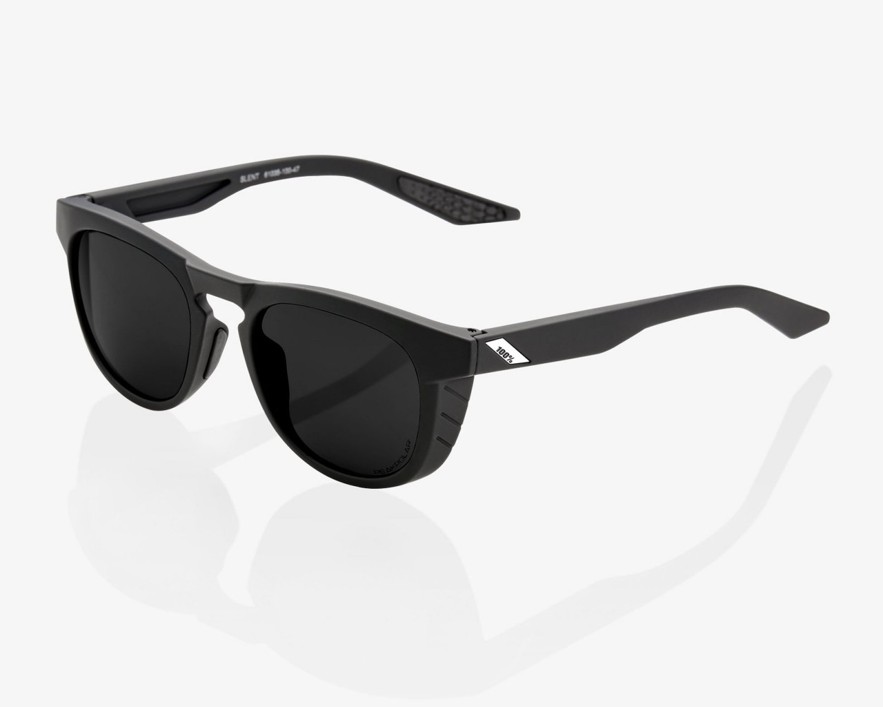 100% Slent - Peakpolar Lens Cycling Sunglasses   soft tact black