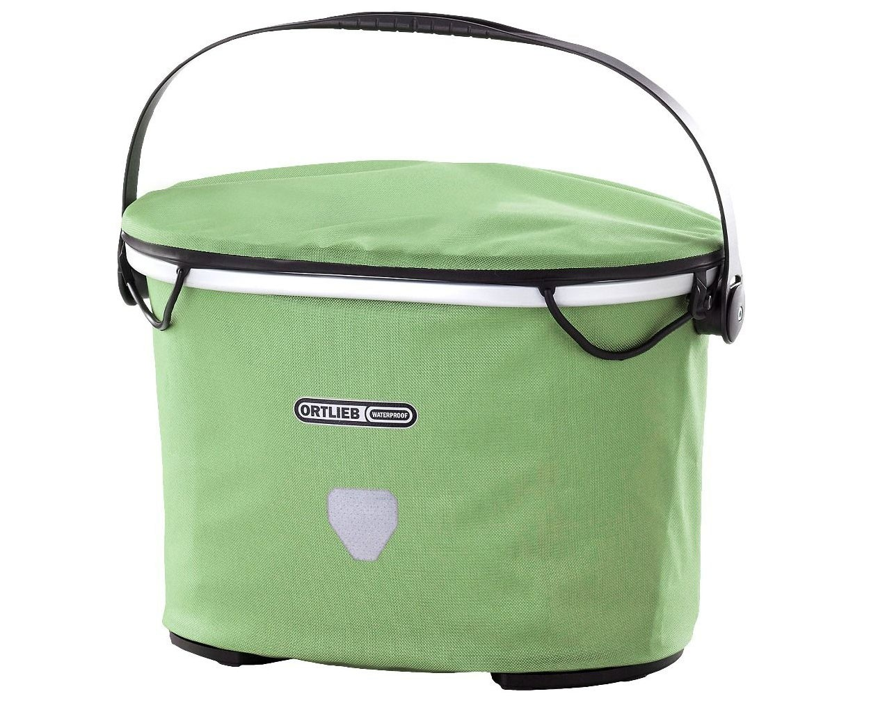 Ortlieb Up-Town City 17.5 litre waterproof Bicycle basket without Mounting Set PVC free   pistacchio