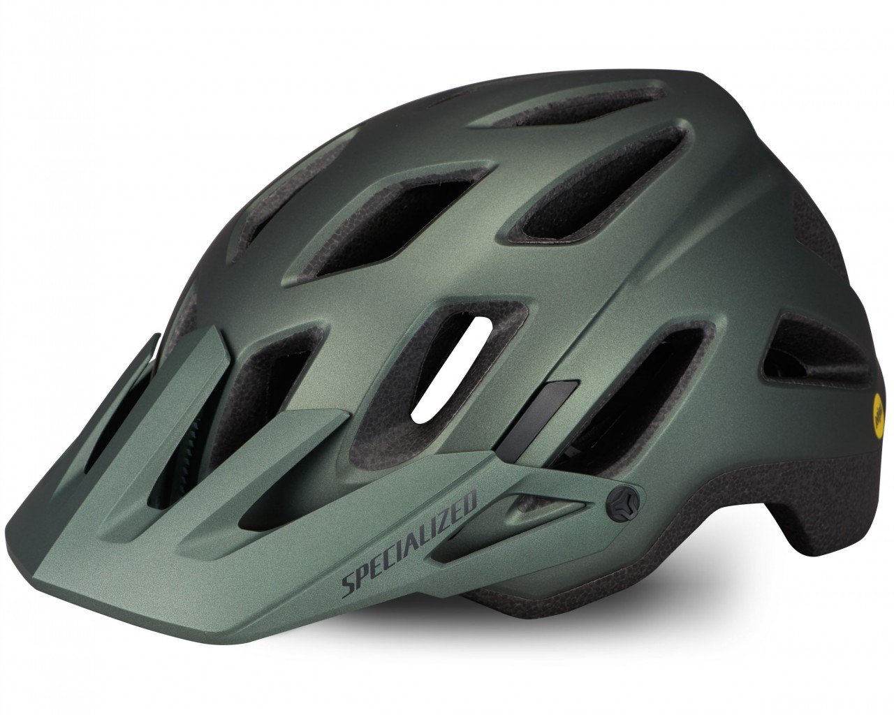 Specialized Ambush Comp MTB Helmet ANGi ready & MIPS | satin oak green metallic