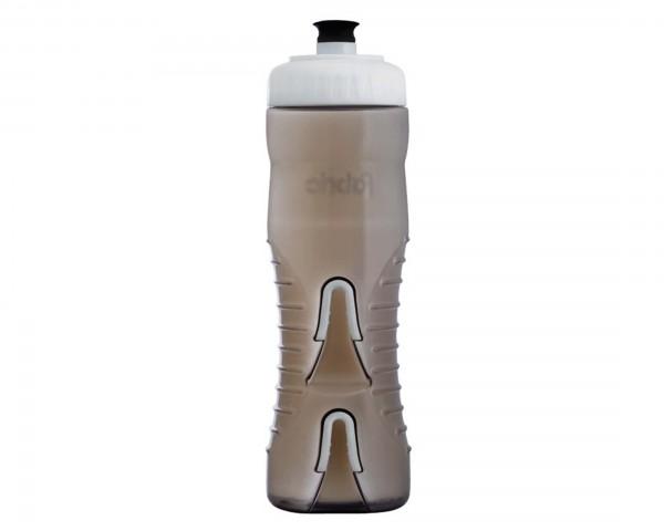 Fabric Wasserflasche mit integriertem Halter 750 ml | black-white
