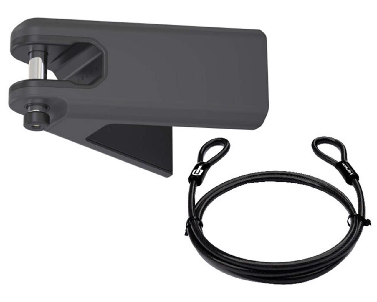 Hiplok Airlok Plus - Wall mounted bicycle storage hanger Lock incl. 10mm Cable   black