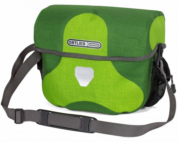 Ortlieb Ultimate Six Plus 7 litres waterproof Bicycle handlebar bag without Mounting Set PVC free | lime-moss green