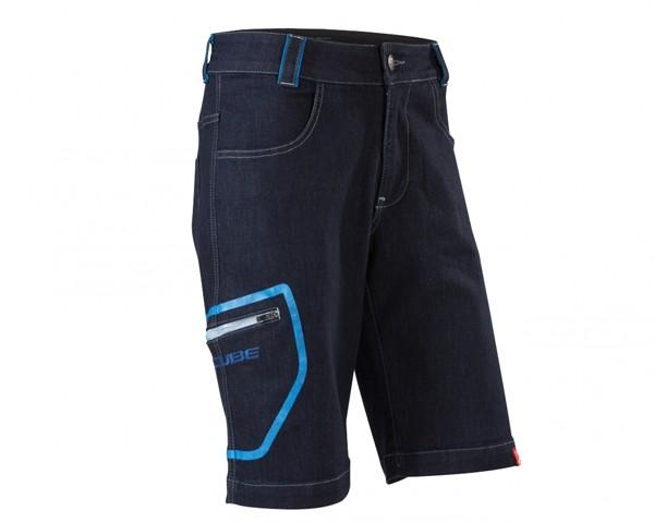 Cube Denim Shorts | indigo blau