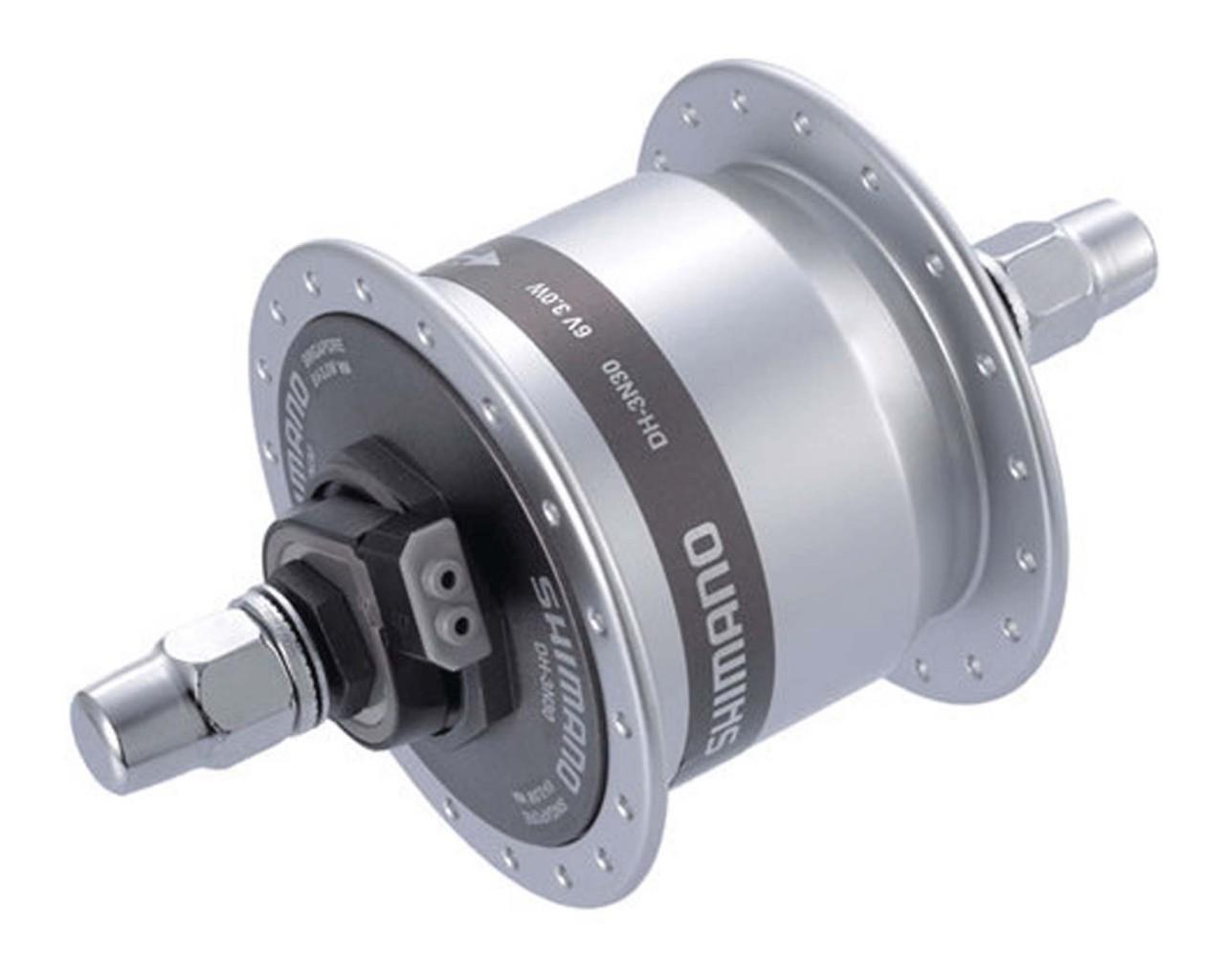 Shimano Dynamoeinheit DH-3N30 Innenmontage 140 mm | silber