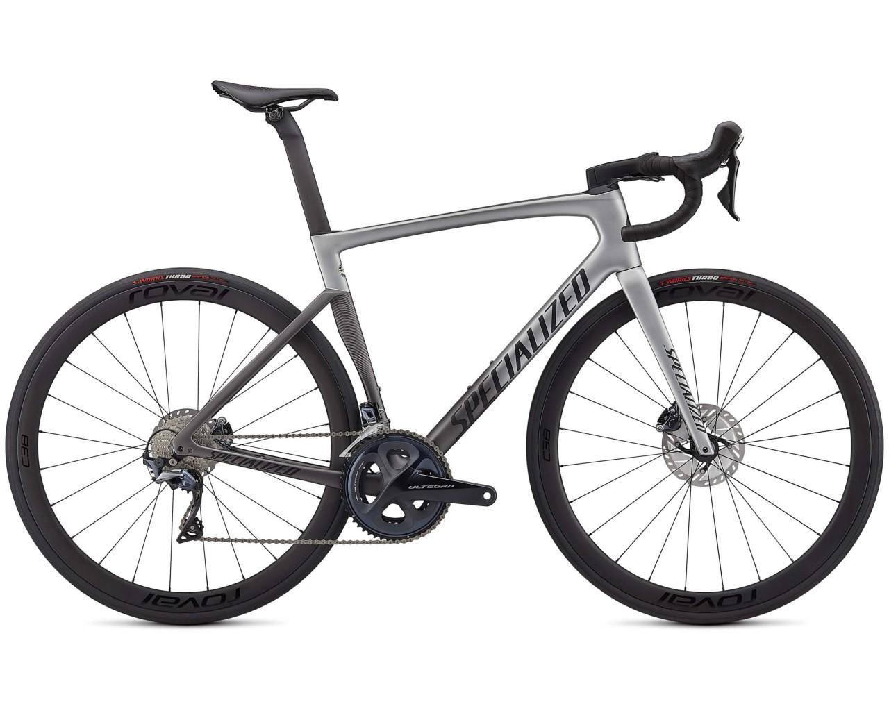 Specialized Tarmac SL7 Expert - Carbon Rennrad 2021 | light silver-smoke fade-black