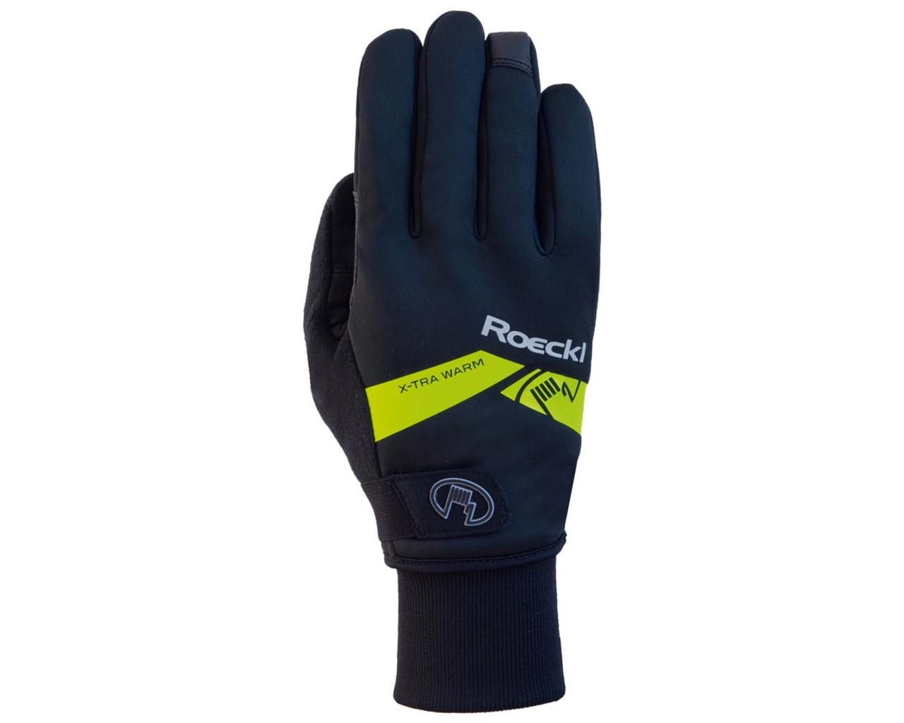 Roeckl Villach Gloves longfinger | black-yellow