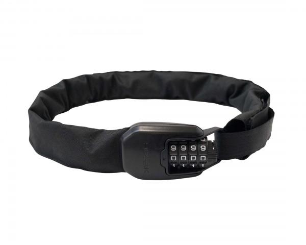 Hiplok Spin - tragbares 6mm Kettenschloss mit 4-stelligem Zahlencode | all black