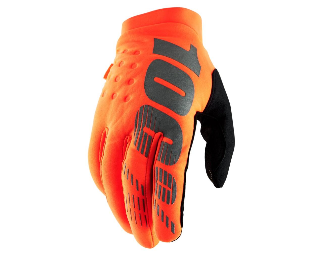 100% Brisker Schlechtwetter Handschuhe | orange-black