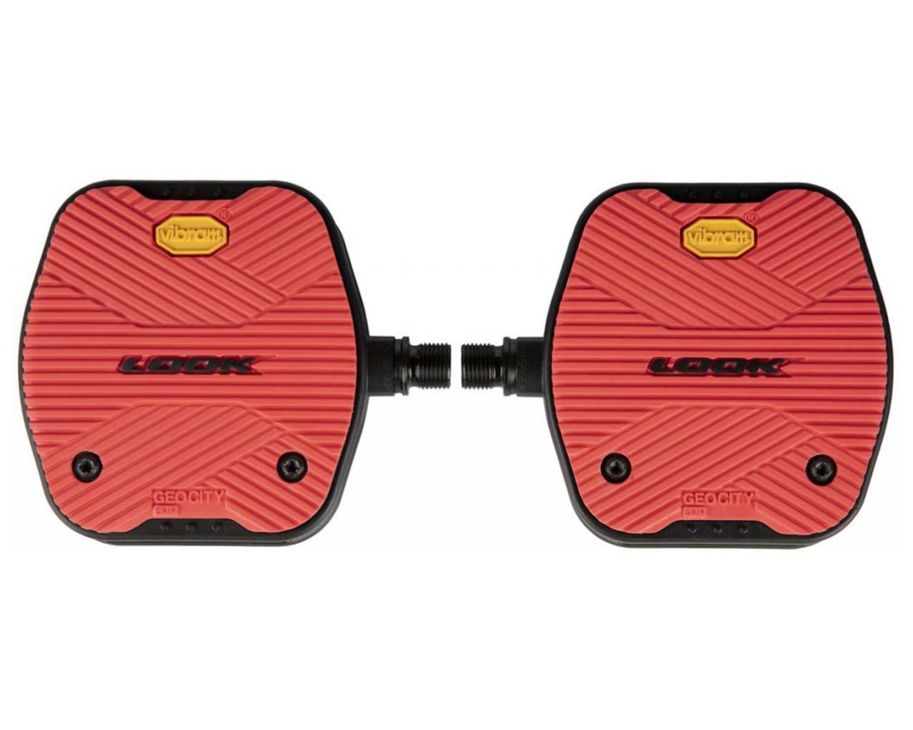 Look Geo City Grip Bicycle Pedals (Pair) | red