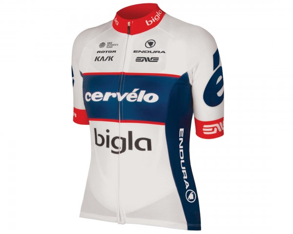 Endura Women Cervelo Bigla Team short sleeve jersey | blue-white