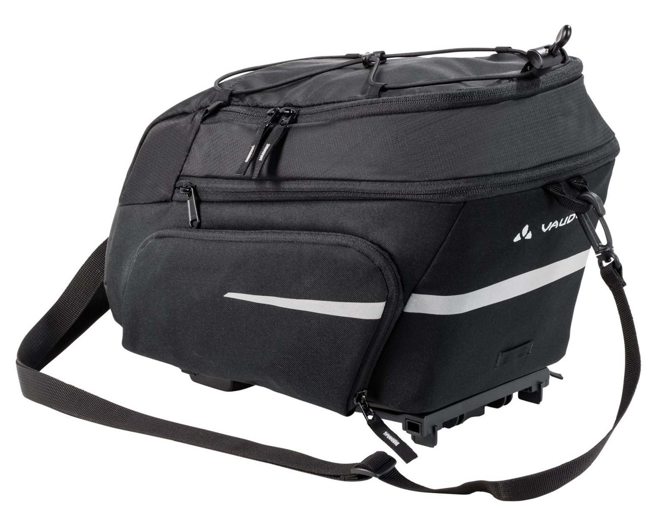 Vaude Silkroad Plus (UniKlip) 9+7 Liter Fahrrad Gepäckträgertasche | black