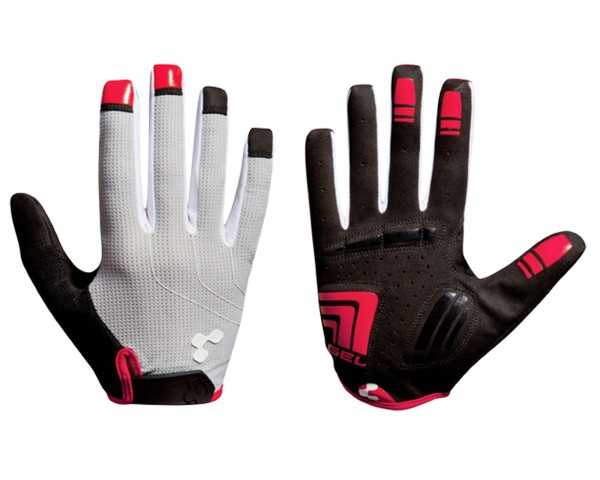 Cube Gloves Natural Fit LTD long finger | grey n black n red