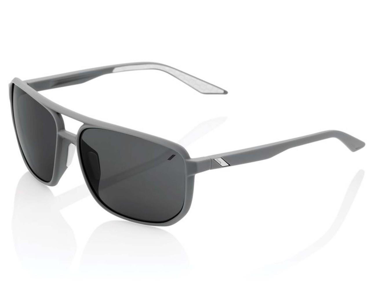 100% Konnor Aviator square - Smoke Lens Sonnenbrille   soft tact dark Haze
