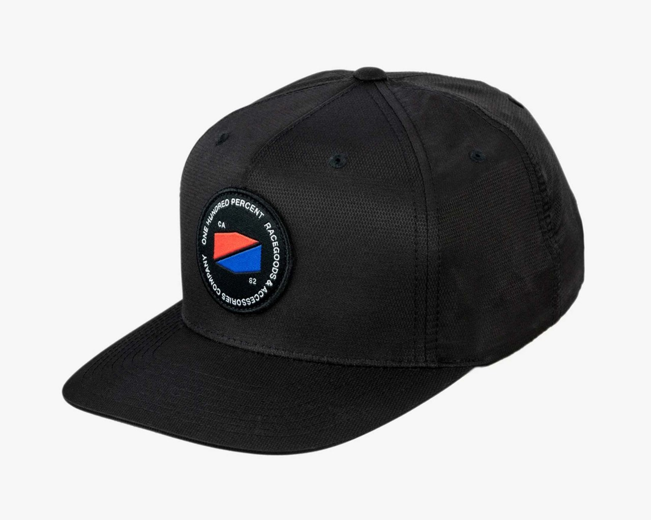 100% Jefferson Snapback Hat   black