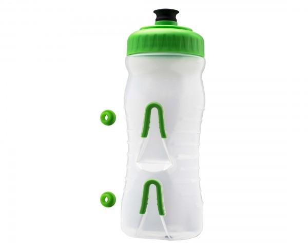 Fabric Wasserflasche mit integriertem Halter 600 ml | clear-green