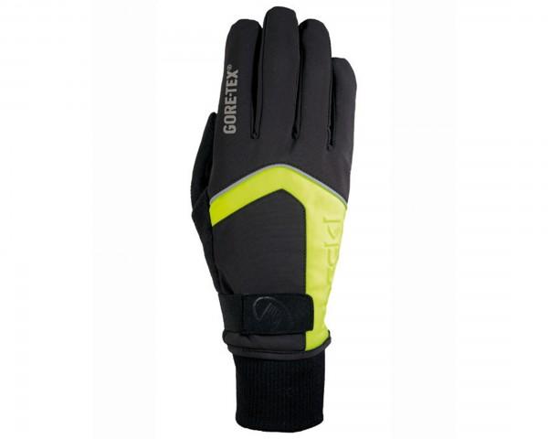 ROECKL Rigoli Langfinger Handschuhe GTX GORE-TEX | Schwarz-Gelb