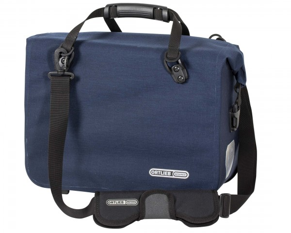 Ortlieb Office-Bag QL2.1 waterproof bike Business bag (single bag) PVC-free - size L | steel blue
