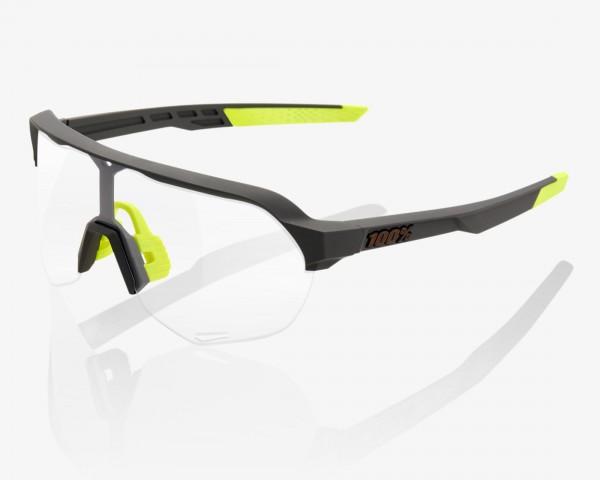 100% S2 Photochromic Lens Fahrrad Sonnenbrille | soft tact cool grey